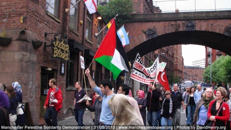 Palestine Protest in Manchester, England