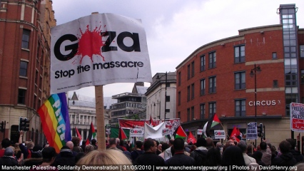 Manchester Gaza Protest Freedom for Palestine 30th May 2010